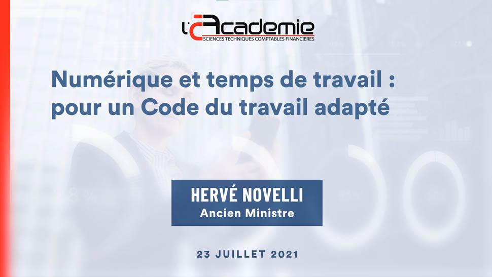 Les Entretiens de l'Académie : Hervé Novelli